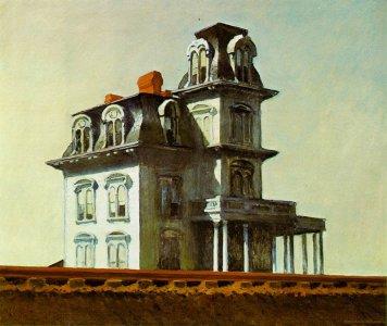Maison près de la voie ferrée (1926) d'Edward Hopper