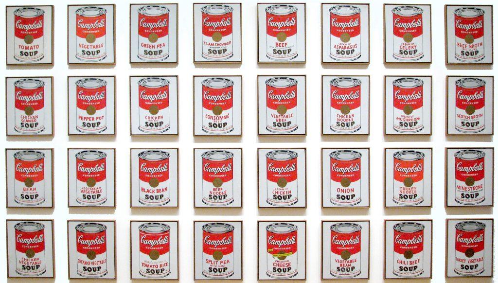 Boîtes de soupe Campbell de Warhol