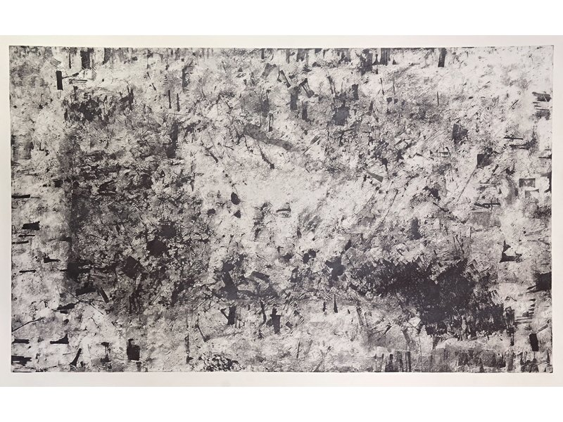 Klaus Mosettig. Handwriting 1. Grafito sobre papel. Galería Bechter Kastowsky.
