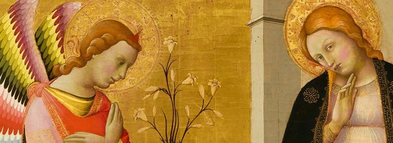Alana's collection, Annonciation, Lorenzo Monaco, angel and Holy Virgin, exhibition Paris