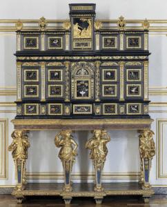 Cabinet, atelier parisien, vers 1675