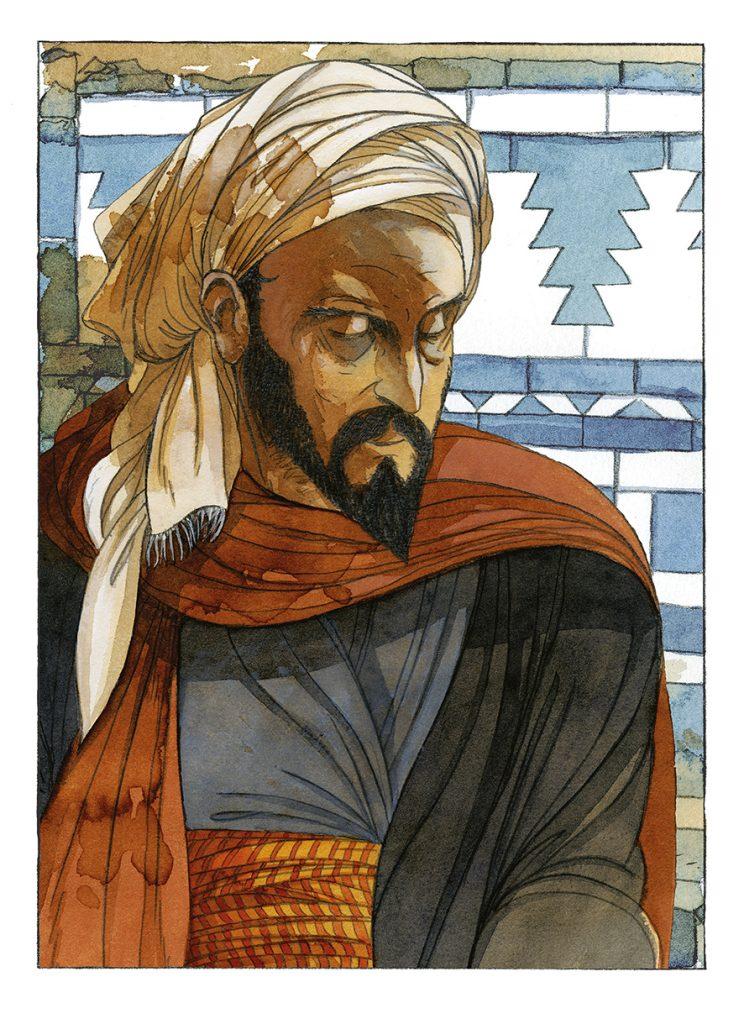 """Album """"Les Voyages d'Ibn Battûta"""" qui sortira en juin chez Dupuis dans la collection Aire Libre."""