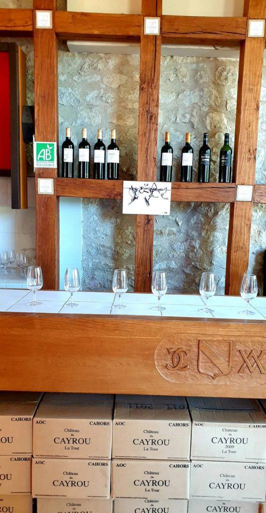 Dégustation de vin domaine du Cayrou