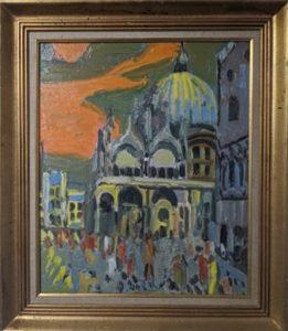 Venise, 1967, Jean Couty. Huile sur toile. 55x46 cm. Collection du musée Jean Couty