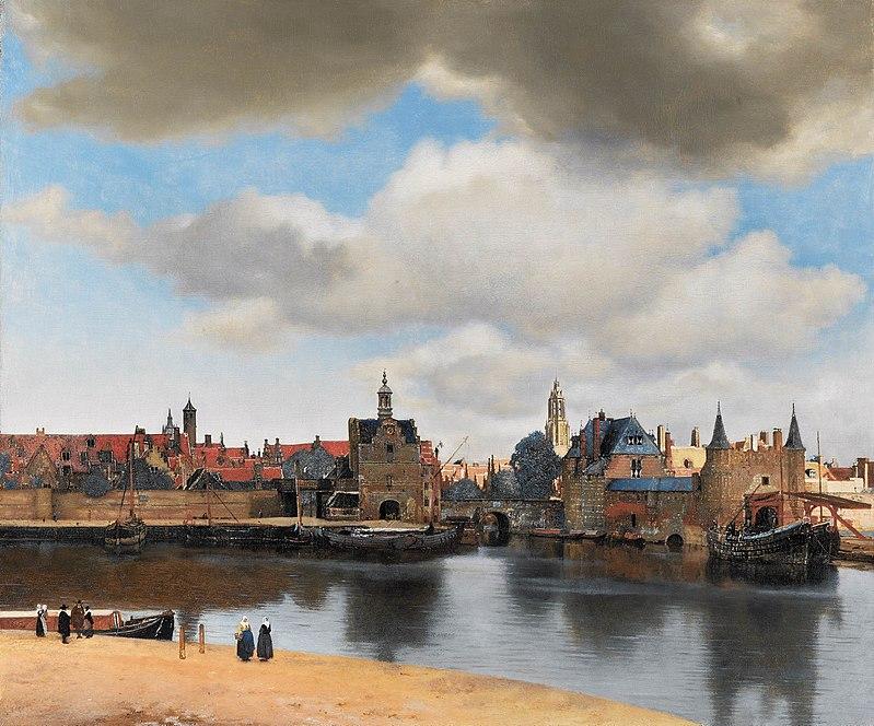 Vue de Delft, Vermeer, 1660-1661, Mauritshuis, La Haye
