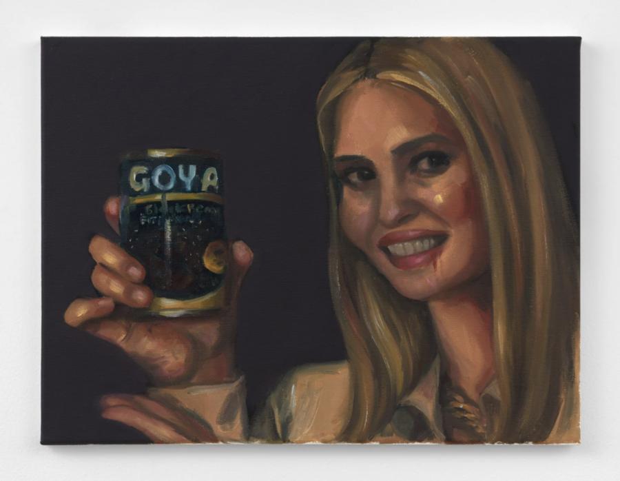 Uncanny Valley Girl (Ivanka's ethics violation), Chloe Wise, 2020, huile sur toile