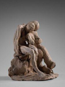 Esquisse pour Sakountala, Claudel, vers 1886, terre cuite, musée Rodin
