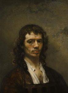 Autoportrait, Carel Fabritius, vers 1645, huile sur toile, musée Boijmans Van Beuningen (Rotterdam)