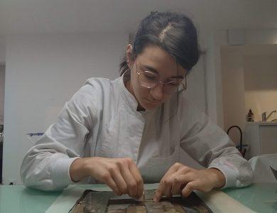 Interview de Blandine Dadillon, élève restauratrice en 3ème année à l'Institut National du Patrimoine :