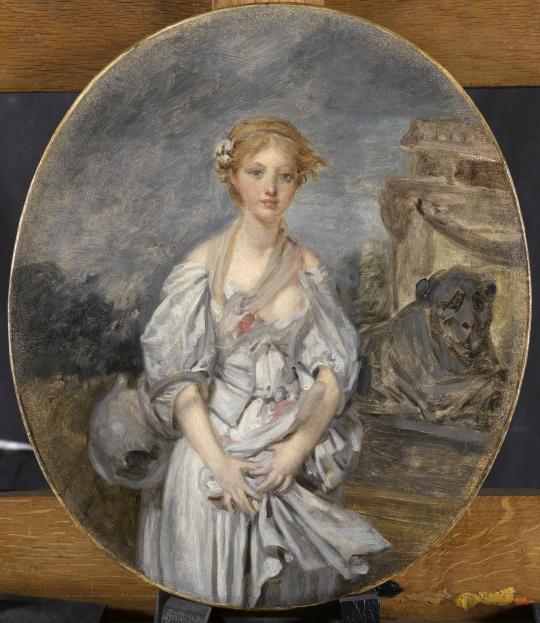Jean-Baptiste Greuze (1725-1805), Esquisse pour La Cruche cassée, 1772, huile sur toile, Paris, musée du Louvre, département des Peintures © RMNGrand Palais (musée du Louvre)