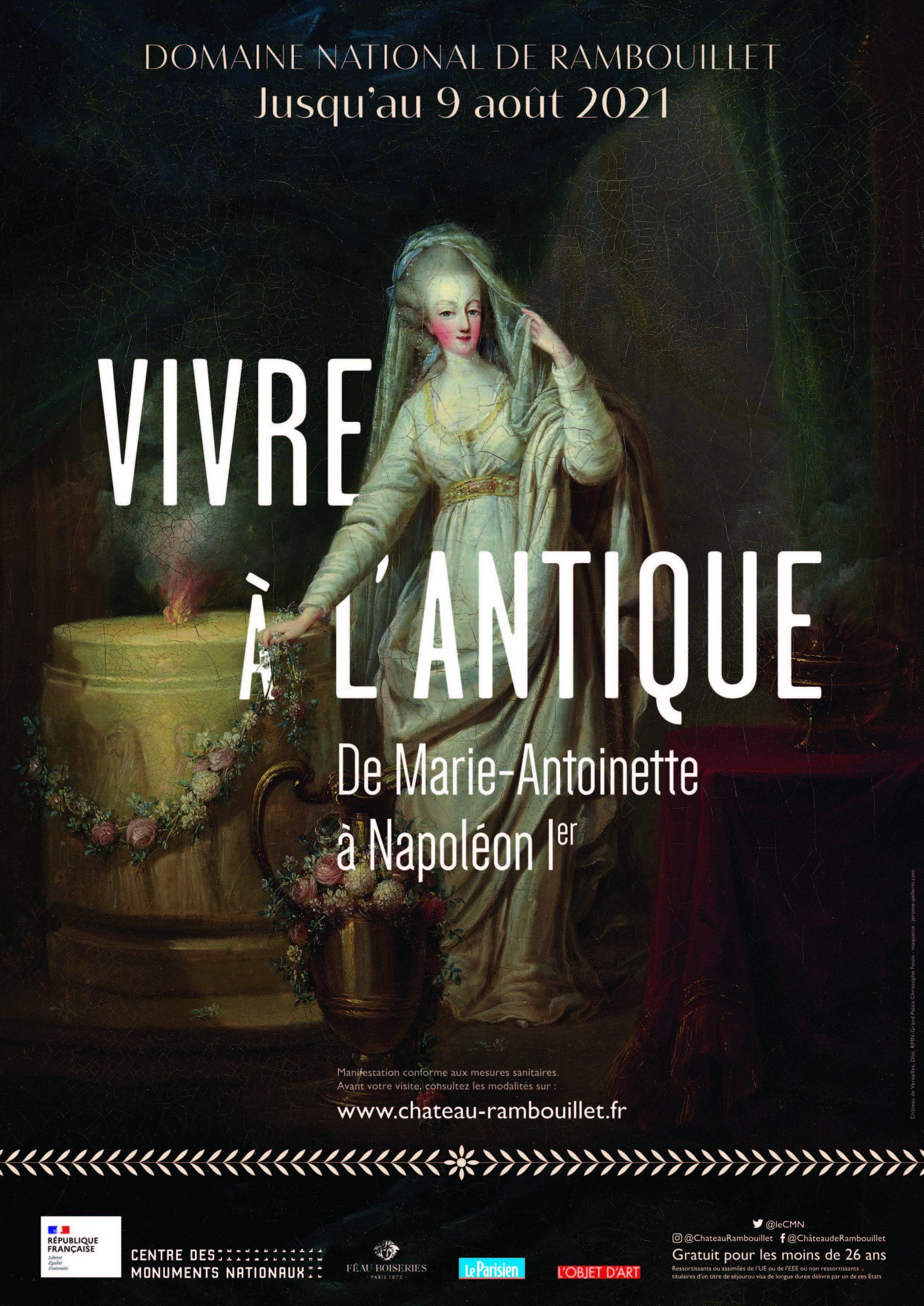 Le Centre des monuments nationaux présente l'exposition « Vivre à l'antique, de Marie Antoinette à Napoléon Ier » au château de Rambouillet