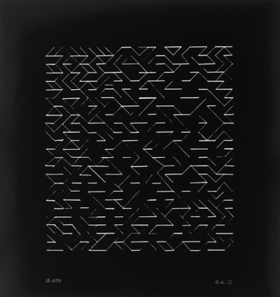Anni Albers, Orchestra, 1979, 45 × 42.5 cm, The Josef and Anni Albers Fundation.