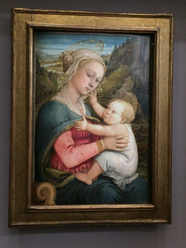 Filippo Lippi, Vierge à l'Enfant, vers 1460-1465, tempera sur bois de peuplier, Munich, Bayerische Staatsgemäldesammlungen, Alte Pinakothek