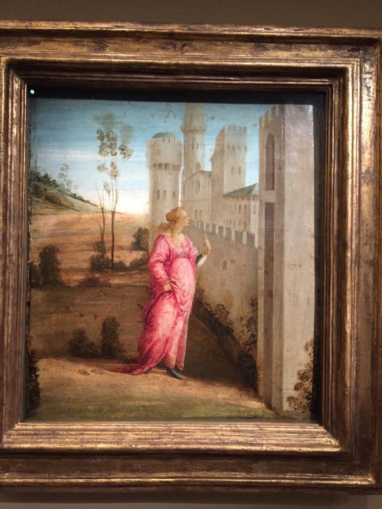 Alessandro Filipepi dit Botticelli, et Filippino Lippi, L'Arrivée d'Esther devant Suse, vers 1475, tempera sur bois, Ottawa, Musée des beaux-arts du Canada