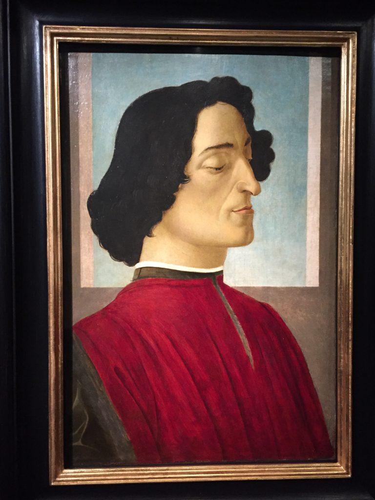 Alessandro Filipepi dit Botticelli, Portrait de Julien de Médicis, vers 1478-1480, tempera et huile sur bois, Bergame, Accademia Carrara