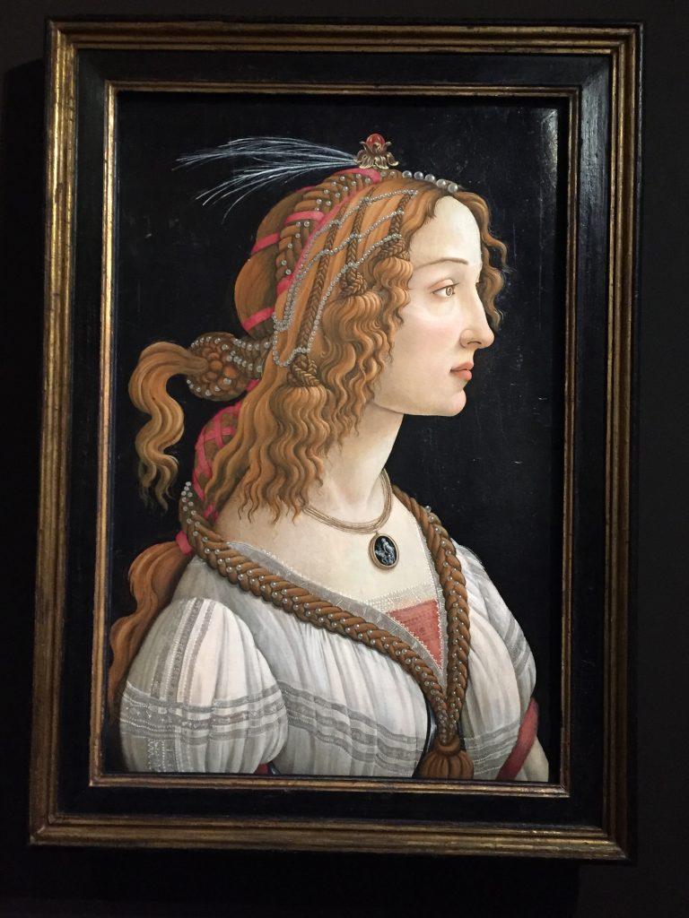 Alessandro Filipepi dit Botticelli, Figure allégorique dite La Belle Simonetta, vers 1485, tempera et huile sur bois de peuplier, Francfort-sur-le-Main, Städel Museum