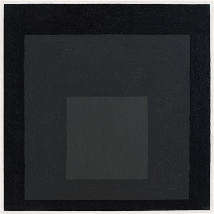 Josef Albers, Study for Homage to the Square, 1965, huile sur masonite, 60.9 × 60.9 cm, The Josef and Anni Albers Fundation.